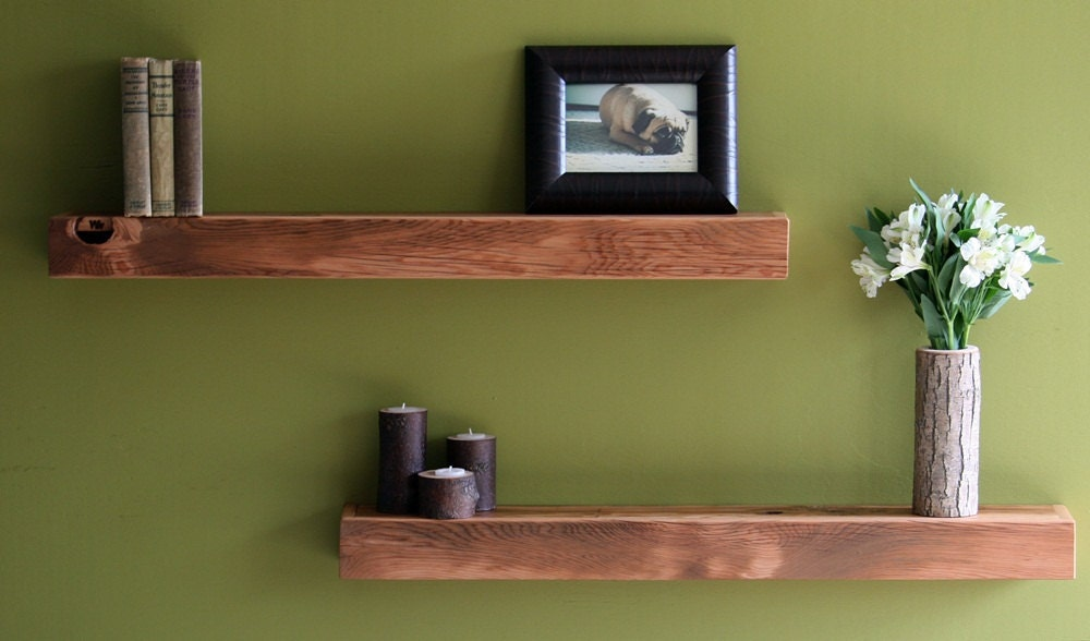 Reclaimed Floating Shelf