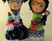 Blank Greeting Cards // Two Fridas