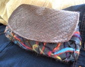 Needle Felted Leather Clutch
