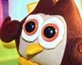 Brown Stuffed Owl Beastie