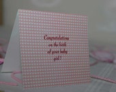 Congratulations on the birth of your baby girl by Vintage Script Press