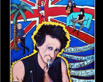 Keith Richards and The Rolling Stones print from Original Painting