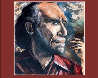 Charles Bukowski 11X14 print