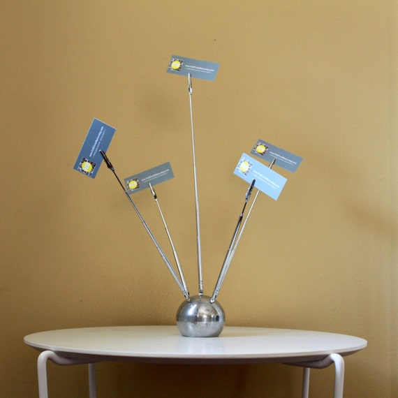 Mid Century Atomic Modern Sputnik Clip Piture or Business Card Holder