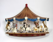HOMCO Animals on Carousel Wall Hanging 70s