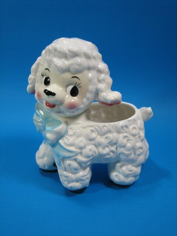 Ceramic Lamb Planter Velco Of Japan 60s