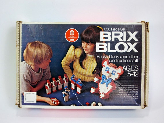 sale / Brix Blox in Original Box 70s / Lego Style Construction Toy