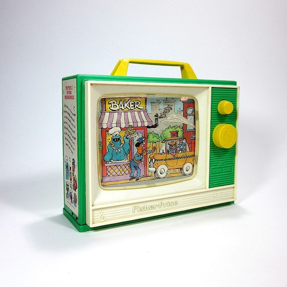 Fisher Price Sesame Street Musical Television 80s