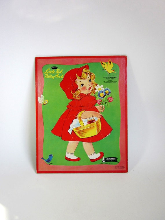 Whitman Little Red Riding Hood Frame Tray Puzzle 1960