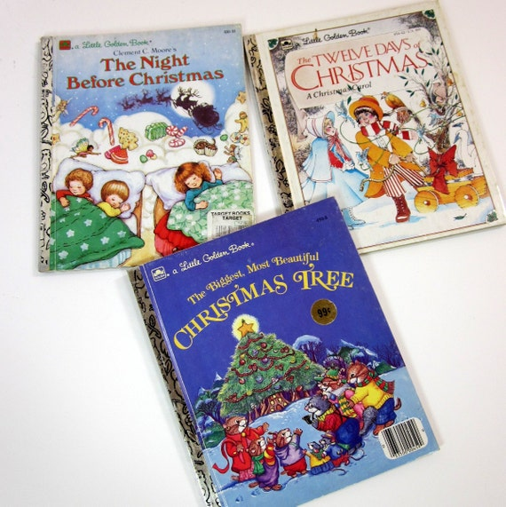 reserved for kira // Set of 3 Little Golden Christmas Books 80s