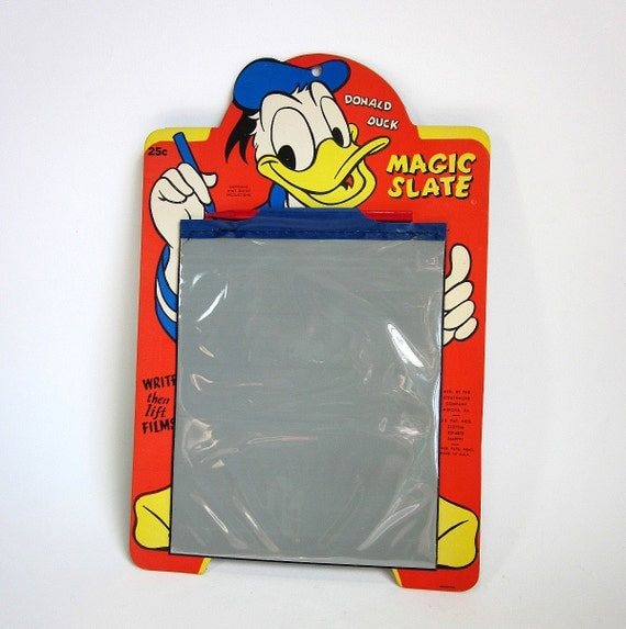 Donald Duck Magic Slate 50s / Near Mint Condition