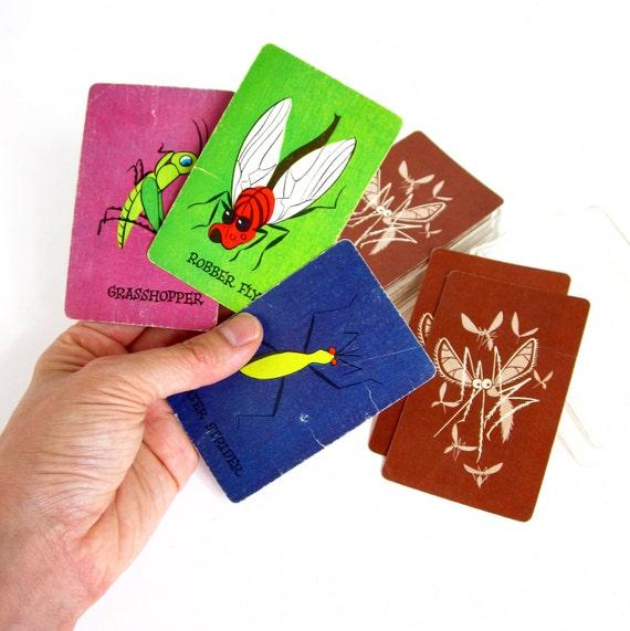 Vintage Skeeter Insect Card Game