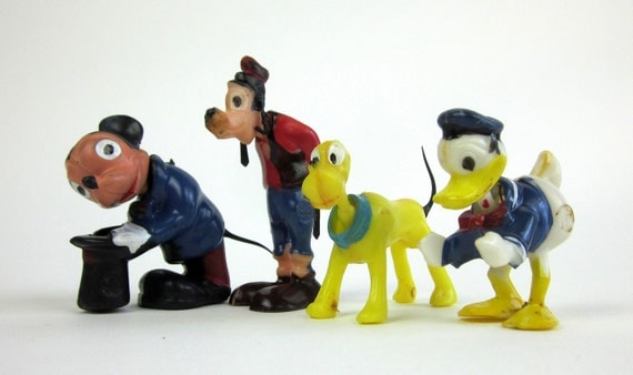 Walt Disney Nodder Cake Toppers / Vintage Marx