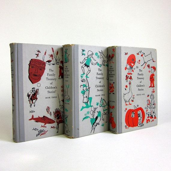 The Family Treasury of Children's Stories 1956 / Three Book Set