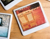 Polaroid Ceramic Coaster - Summer In Hyde Park