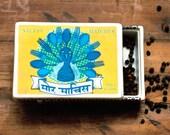 Ceramic Matchbox Boxes - Peacock Matches
