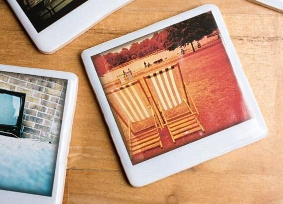 Polaroid Ceramic Coaster - Summer In Hyde Park