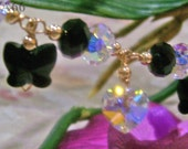 14KG Swarovski Bracelet Rondelle Butterfly Love Colors Custom Made, Wire Wrapped, Bridal, MOB, Bridesmaids, Prom, Birthday Gift