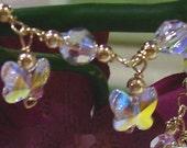 Baby Toddler Children Butterfly Crystal Bracelet 14KGF 925 Silver colors Swarovski Crystal Bracelet Flower Girl Baby Shower