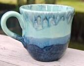 Blue/Green Ceramic  Mug