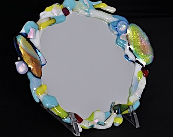 Dichroic Fused Glass Mirror