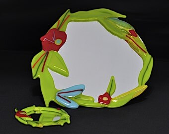 Tropical Fused Glass Mirror