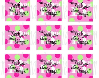 We Seek 13th A of F POLKA DOTS Inchies 1 inch square digital images for scrapbooking, tags, glass and stone tiles  4X6 collage sheet