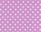 Orchid Purple White Polka Dumb Dot Dots Fabric M Miller