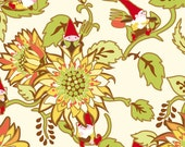Better Gnomes and Gardens Gnome Fabric ITB Dahlia Flowers on Tan