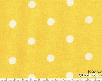 Flower Sugar Holiday Lecien Import Yellow With White Dot Polka Dots Fabric 9923Y
