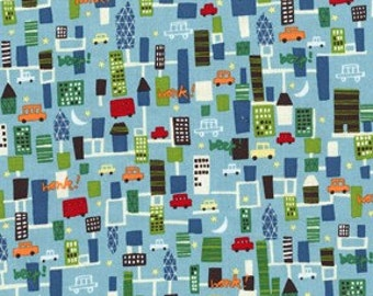 Beep Beep CityScape Car Building City Road Fabric MM
