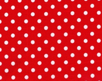 Christmas Red White Dumb Dot Polka Dots Fabric Holiday