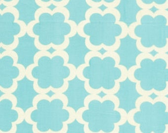 Kumari Garden Fabric Blue Aqua Tarika Daisy Medallion