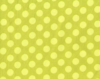 Ta Dot Polka Dots Fabric Apple Green by Michael Miller