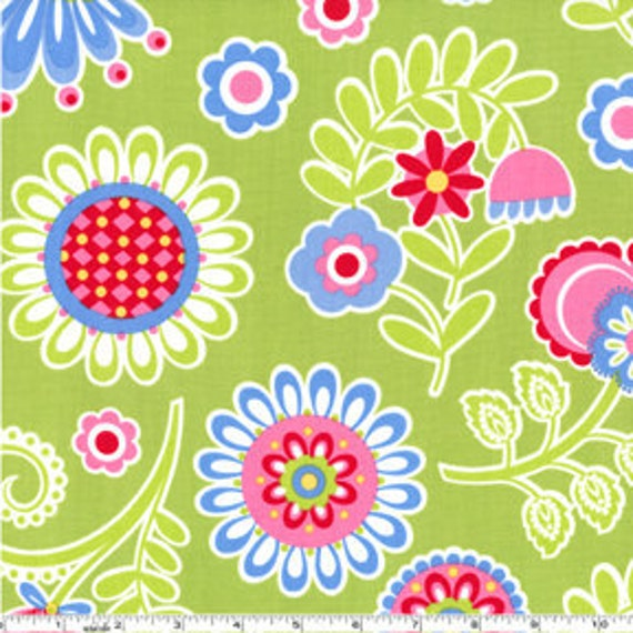 Pillow Maxfield Ooh La La Fabric Bouquet De Fleurs Multicolor Flowers Aqua Blue