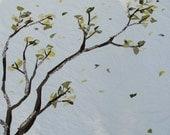 Handmade Organic Quilt Tree Branch Queen
