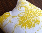 Sale Chicken Lavender Bag Doris the Yellow Hen Chicken Shaped Gocco Printed Lavender Sachet