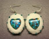 FREE SHIPPING Felt earrings