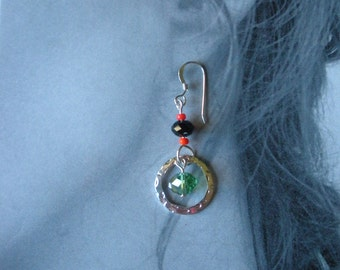 Green and Orange Earrings