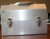 Vintage plain steel lunchbox 1960s 1970s made in Canada