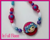 Price Reduced LaLa Doll Blue Haired Girl Boutique Bling Bead Necklace Girls Toddlers Birthday