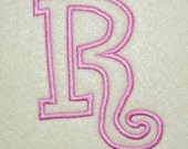4 Inch Curlz Embroidery Machine Applique Font Alphabet Monogram Design 154