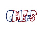 Chiefs 2 Color Digital Embroidery Machine Applique Design 2323