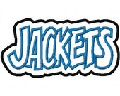 Jackets with a Shadow Embroidery Machine Applique Design 2452