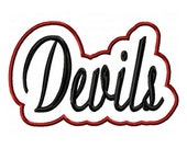 Devils Embroidery Machine with a Shadow Applique Design 2831