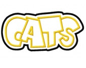 Cats Embroidery Machine Double Applique Design 2353