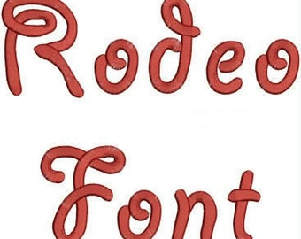 Rodeo Alphabet Embroidery Machine Font Monogram Designs 163