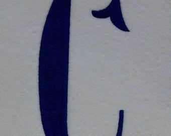 Large Fishtail Embroidery Machine Alphabet Monogram 2119 INSTANT DOWNLOAD