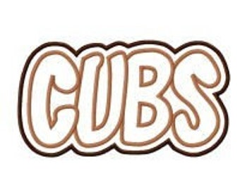Cubs with a Shadow Embroidery Machine Applique Design 2287