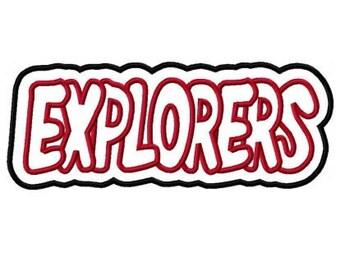 Explorer with a Shadow Embroidery Machine Applique Design 2290